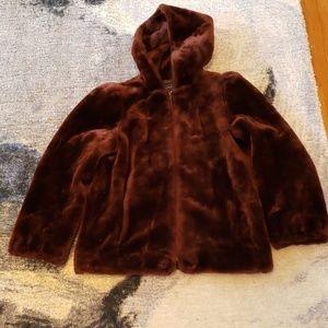 Vintage Outerlayers Brown Faux Fur Coat